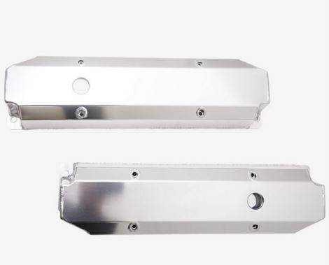 TSP - TSP-JM8097-7P BB Mopar, Tall, Fabricated Aluminum Valve covers. Polished-Uncoated Finish