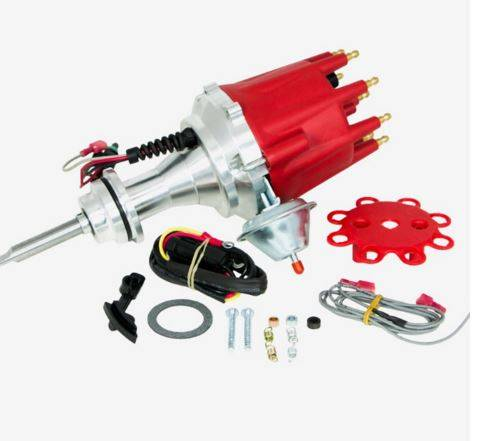 TSP - TSP-JM7713R Mopar SB Pro Series Ready to Run Electronic Distributor. Red Cap