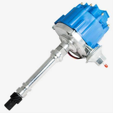 TSP - TSP-JM6501BL HEI Distributor - Chevy SB/BB V8 Engines, 65K V Coil, Blue Cap
