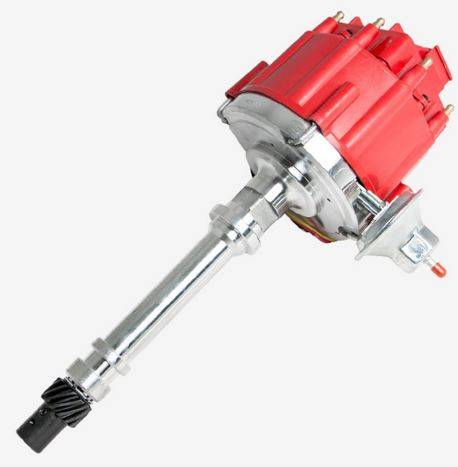 TSP - TSP-JM6501R HEI Distributor - Chevy SB/BB V8 Engines, 65K V Coil, Red Cap