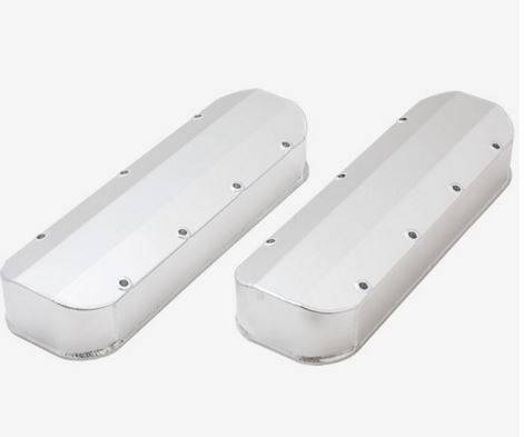 TSP - TSP-JM8092-2CA - Clear Anodized, Tall,  Fabricated Aluminum Valve Covers -  BBC