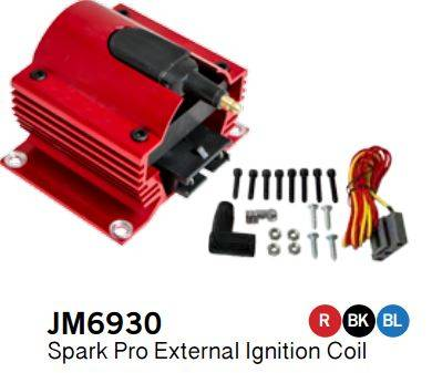 TSP - TSP-JM6930R - E-CORE 50K VOLT Coil, Red Finish