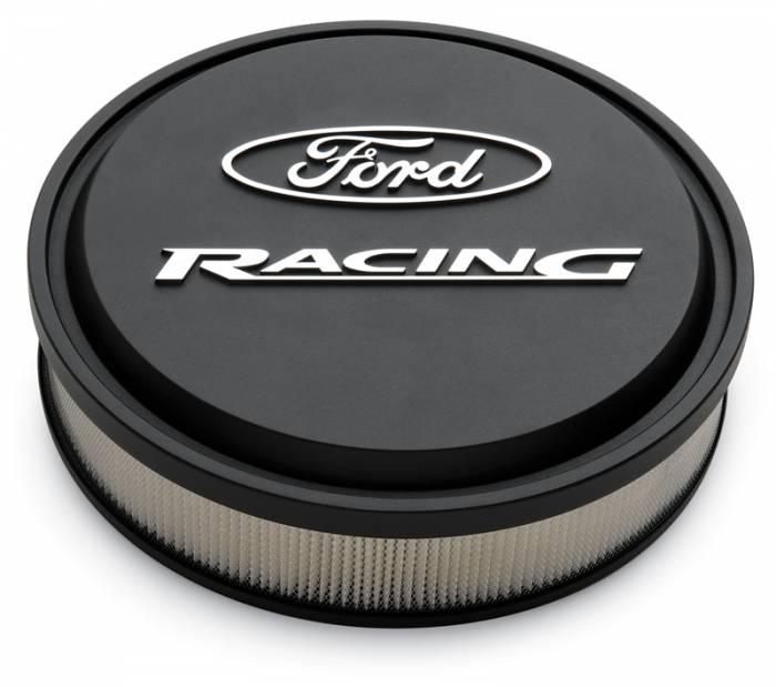 "Proform - 302380 - Slant-Edge Die-Cast Aluminum Ford Air Cleaner Kit, 13"" Round, Black Crinkle, Raised/Milled Emblems"
