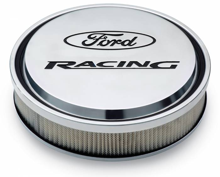"Proform - 302383 - Slant-Edge Die-Cast Aluminum Ford Air Cleaner Kit, 13"" Round, Polished, Recessed Logo"