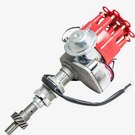 TSP - TSP-JM6706R Ford 351C 429 460 Cleveland V8, Ready to Run Electronic Distributor. Red Cap