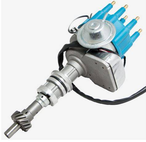 TSP - TSP-JM6706BL Ford 351C 429 460 Cleveland V8, Ready to Run Electronic Distributor. Blue Cap
