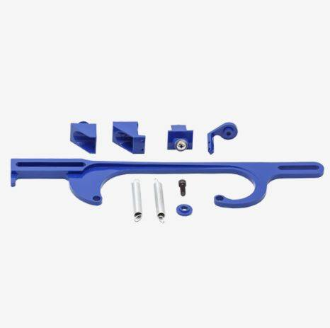 TSP - TSP-JM3101BL Performance Billet Aluminum Throttle Cable Bracket 4150/4160 Blue