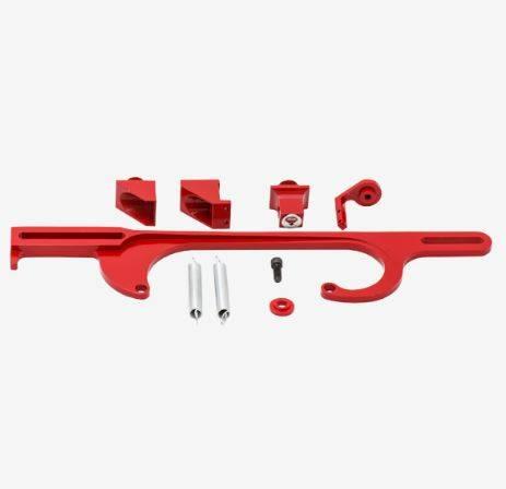 TSP - TSP-JM3101R Performance Billet Aluminum Throttle Cable Bracket 4150/4160 Red
