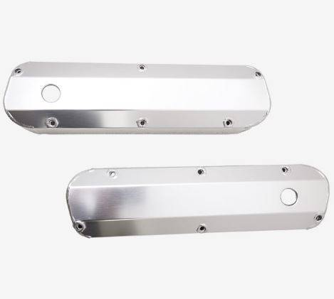 TSP - TSP-JM8093-7CA - Clear Anodized, Tall,  Fabricated Aluminum Valve Covers -  SBF