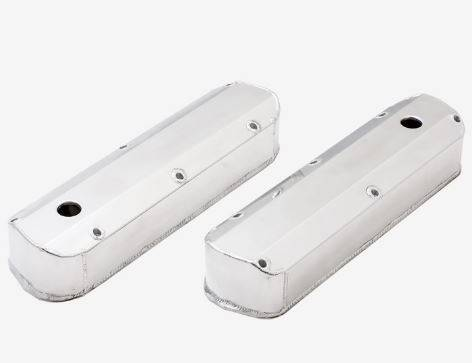 TSP - TSP-JM8093-7P - Polished, Tall,  Fabricated Aluminum Valve Covers -  SBF