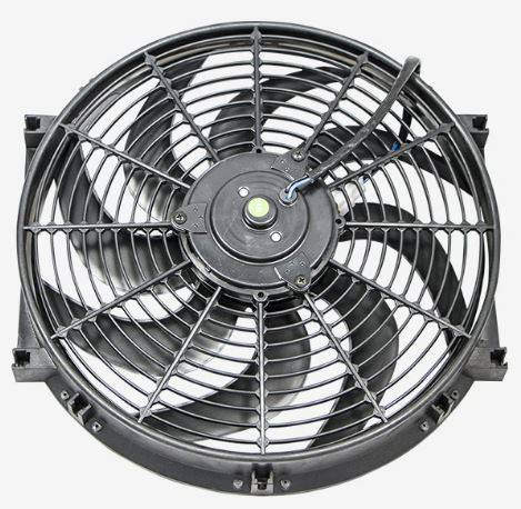 TSP - TSP-HC6104 S-Blade Electric Fan - 14 in. 900 CFM Pusher/Puller