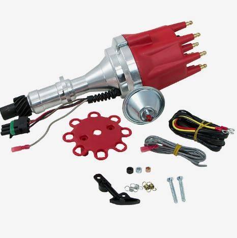 TSP - TSP-JM7704R Pontiac V8 - Ready to Run, Pro Series Electronic Distributor. Red Cap