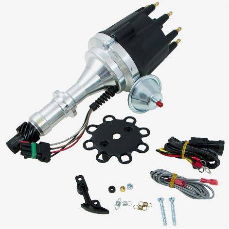 TSP - TSP-JM7704BK Pontiac V8 - Ready to Run, Pro Series Electronic Distributor. Black Cap