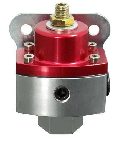 TSP - TSP-JM1057R Performance HP Billet Fuel Pressure Regulator Red/Clear Anodized. 5-12 PSI