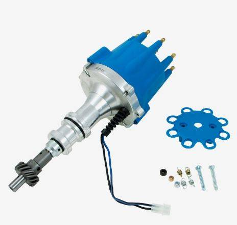 TSP - TSP-JM7606BL Ford Pro Series Pro-Billet Electronic Distributor. Blue Cap. ,351C, 351M, 400M, 429, 460 Cleveland / Modified V8