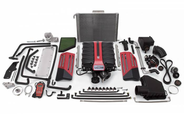 Edelbrock - ED-1598 - Edelbrock  E-Force Supercharger Kit with Tuner, 2010-13 Camaro SS with Manual Trans