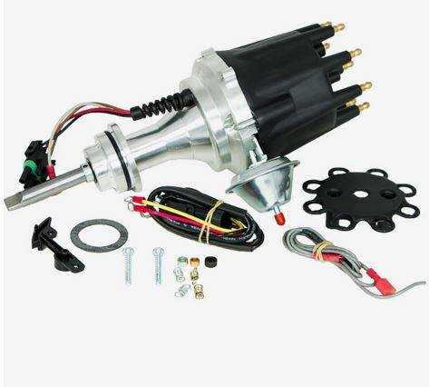 TSP - TSP-JM7714BK Mopar BB- RB Engine (440 CID) Ready to Run, Pro Series Electronic Distributor. Black Cap