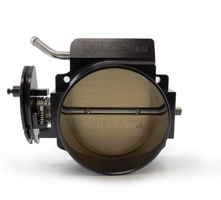 TSP - TSP-81012BK - Top Street Performance Hi Flow EFI LS Billet 102mm Throttle Body with cable drive, Black Finish