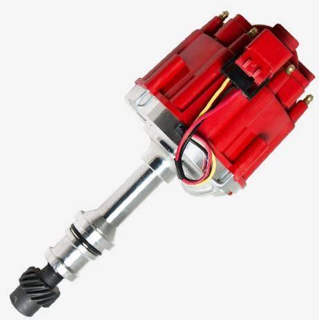 TSP - TSP-JM6503R HEI Distributor - Oldsmobile V8 Engines, 65K V Coil, Red Cap