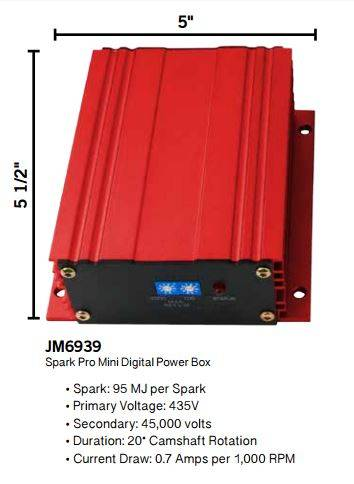 TSP - TSP-JM6939R TSP Performance Mini Digital-6AL Digital Ignition Controller - Red Anodized