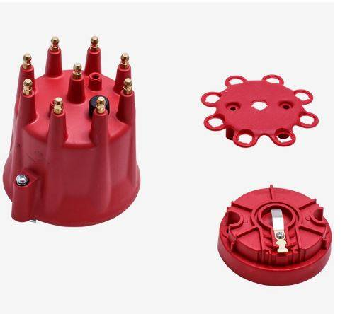 TSP - TSP-JM6973R Top Street Ignition Pro-Series Distributor Cap And Rotor Kit. Red.