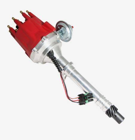 TSP - TSP-JM7701R SBC/BBC Chevy Pro-Series, Pro-Billet Ready to Run Small Cap Distributor. Red Cap