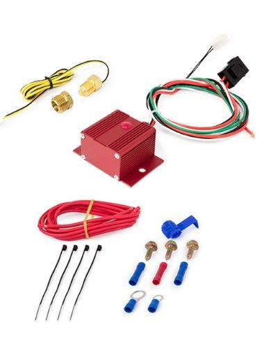 TSP - TSP-HC7110R - Electric Fan Controller with Wiring Harness, 150-240 Degrees F, Red Finish