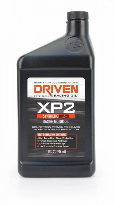 Joe Gibbs Driven Racing Oil - JGD-00206 - Joe Gibbs Synthetic Racing Oil (XP2) - 0W-20 - 1 Quart Bottle