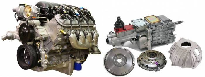 PACE Performance - GMP-TK6LS525-X  Pace LS3 525HP with Holley Oil Pan & Tremec TKO 600 5 Speed Transmission Package