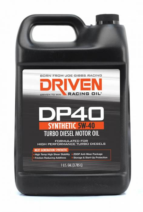 Joe Gibbs Driven Racing Oil - JGD-02508 - Joe Gibbs High Zinc Synthetic Diesel Oil (DP40) - 5W-40 - 1 Gallon Bottle