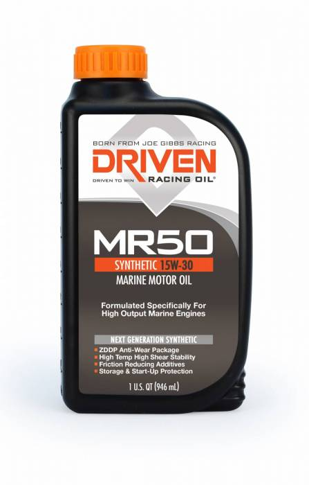 Joe Gibbs Driven Racing Oil - JGD-02606 - Joe Gibbs High Zinc Synthetic Marine Oil (MR50) - 15W-50 - 1 Quart Bottle