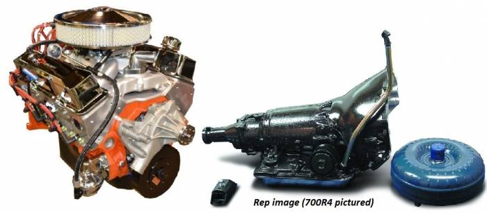 PACE Performance - GMP-TH400BP400-1 - Pace SBC 400/460HP Chrome Finish Crate Engine with TH400 Trans Combo
