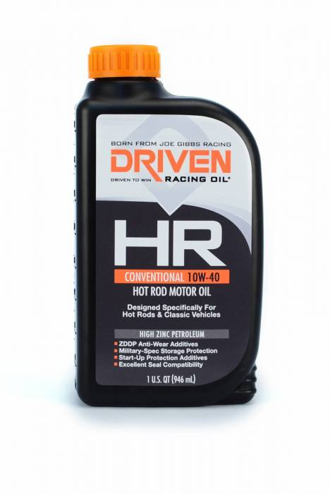 Joe Gibbs Driven Racing Oil - JGD-03806 - Joe Gibbs HR High Zinc Conventional (HR-5) 10W40 Hot Rod Motor Oil - 1 Quart