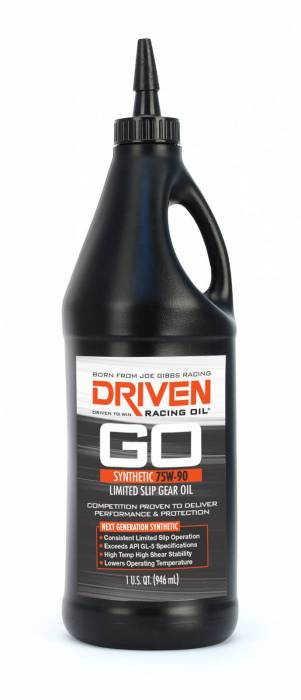 Joe Gibbs Driven Racing Oil - JGD-04230 - Joe Gibbs Synthetic Limited Slip 75W90 Gear Oil - 1 Quart