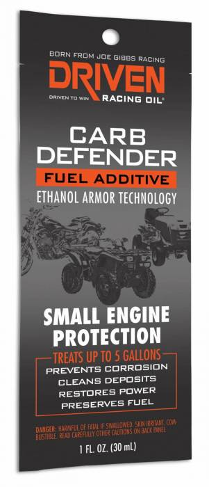Joe Gibbs Driven Racing Oil - JGD-70042 - Joe Gibbs Carb Defender For Small Engines, 1 oz. Packet, Treats Up To 5 Gallons