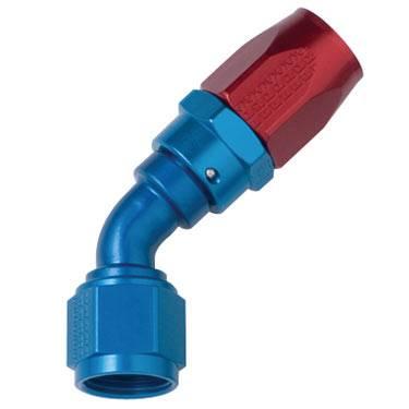Fragola - FRA104510 - Fragola 45 Degree Hose Ends, Series 3000, 10AN Red/Blue