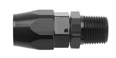 Fragola - FRA190166-BL - Fragola Series 3000 Direct Fit Hose End, Straight with Pipe Thread, 6AN Hose to 3/8 NPT, Black