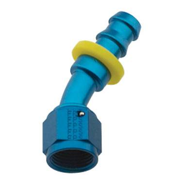 Fragola - FRA203008 -  Fragola Series 8000 Push-Lite Race Hose Ends, 30 Degree, 8AN, Blue