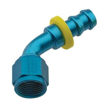 Fragola - FRA206006 -  Fragola Series 8000 Push-Lite Race Hose Ends, 60 Degree, 6AN, Blue