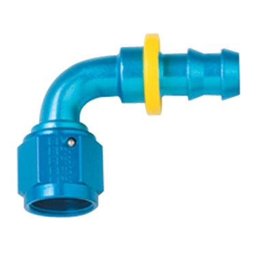 Fragola - FRA209006 -  Fragola Series 8000 Push-Lite Race Hose Ends, 90 Degree, 6AN, Blue