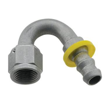 Fragola - FRA215008-CL - Fragola Series 8000 Push-Lite Race Hose Ends, 150 Degree, 8AN, Clear