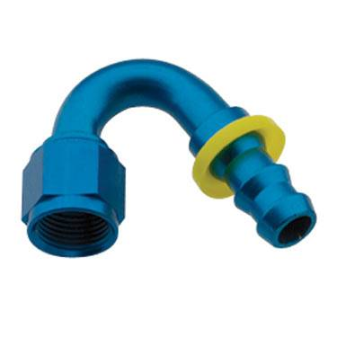 Fragola - FRA215012 -  Fragola Series 8000 Push-Lite Race Hose Ends, 150 Degree, 12AN, Blue
