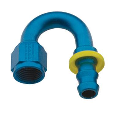 Fragola - FRA218008 -  Fragola Series 8000 Push-Lite Race Hose Ends, 180 Degree, 8AN, Blue