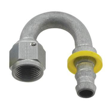 Fragola - FRA218008-CL - Fragola Series 8000 Push-Lite Race Hose Ends, 180 Degree, 8AN, Clear