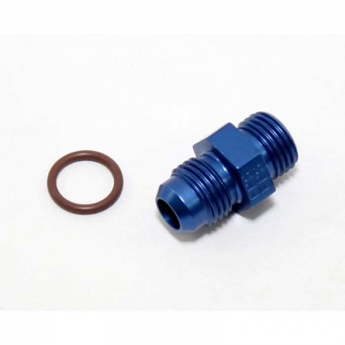 "Fragola - FRA495105 -  Fragola Radius Fitting 10AN Male To 3/4""-16 (8AN) Male With Crush Washer,Blue"