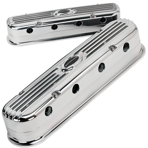Billet Specialties - BSPP95470 - Billet Specialties Billet Aluminum Valve Covers, LS Modular for Use with LS3 Coils 12611424, Profile Collection, Polished
