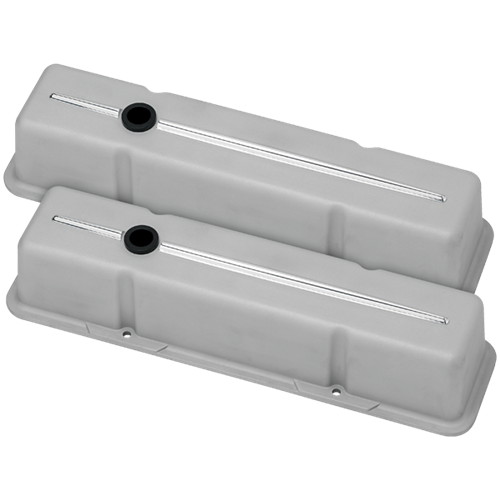 Billet Specialties - BSP95224RTF - Billet Specialties Aluminum Valve Covers, SBC, Streamline Collection, Ready to Finish