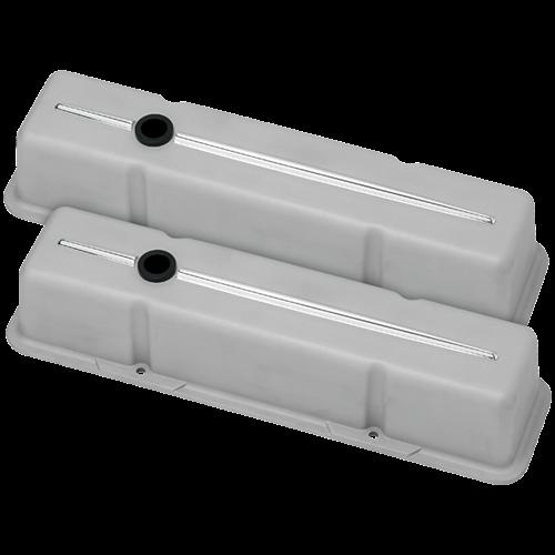 Billet Specialties - BSP95224RTF - Billet Specialties Aluminum Valve Covers, SBC, Streamline Collection, Ready to Finish