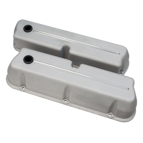 Billet Specialties - BSP95324RTF - Billet Specialties Aluminum Valve Covers, SBF, Streamline Collection, Ready to Finish