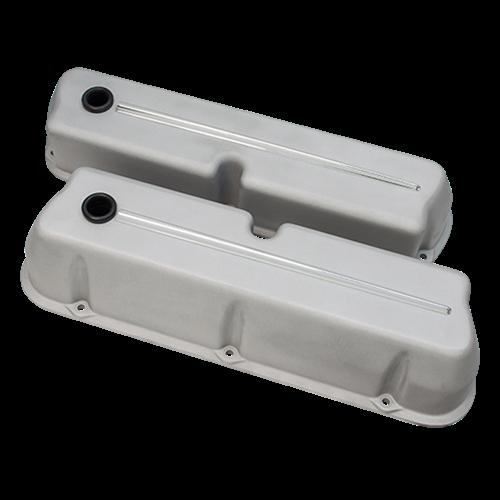 Billet Specialties - BSP95324RTF - Billet Specialties Aluminum Valve Covers, SBF, Streamline Collection, Ready to Finish